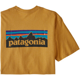 Patagonia P-6 Logo Responsibili Tee Herre glyph gold